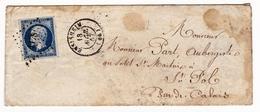 Lettre 1857 Ensisheim Haut Rhin Alsace Saint Pol Sur Ternoise Pas De Calais Auberge Aubergiste - 1853-1860 Napoleon III