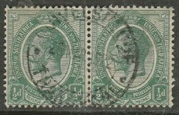 South Africa, GVR, 1/2d, Pair, Used DUIVELSKLOOF TRANSVAAL 28 MAR 22 C.d.s. - South Africa (...-1961)