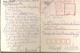 Brazil & Marcofilia, Flags Square And Anhangabaú Valley, Sao Paulo To Lisbon Portugal 1978 (75) - Brazilië