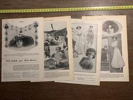 1911 JST MADEMOISELLE MLLE POLAIRE PAR ELLE MEME CAFE CONCERT THEATRE A LA CIGALE - Vieux Papiers