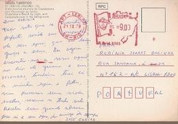 Brazil & Marcofilia, Tourism, Copacabana And Corcovado Beach, Leblon, Rio De Janeiro To Lisbon Portugal 1979 (21) - Brazilië