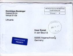 Lituanie   Lietuva To Germany , 2019 ,  Used Cover - Lithuania