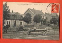 KAI-11  Montreux-Château Avenue De La Gare. Attelage.  ANIME.Cachet Frontal 1909 - Frankreich