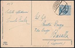 CARTOLINA ANNULLO AUSTRIACO DI KARERSEE DEL 10.8.1922 PER BUSALLA AFFRANCATA CON MICHETTI C. 25 - SASSONE 83 - Storia Postale