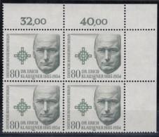 BERLIN 719, 4erBlock Mit Eckrand Rechts Oben, Postfrisch **, Erich Klausener 1984 - Ungebraucht