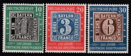 BRD 113-115, Postfrisch **, 100 Jahre Deutsche Briefmarken 1949 - [7] República Federal
