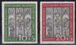 BRD 139-140, Postfrisch **, Marienkirche Lübeck 1951 - [7] República Federal