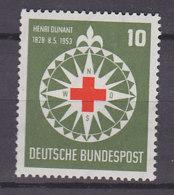 BRD 164, Postfrisch **, Henri Dunant 1953 - [7] West-Duitsland