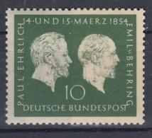 BRD 197, Postfrisch **, Paul Ehrlich, Emil Von Behring 1954 - BRD