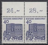 BRD 457/457, Mit Oberrand, Postfrisch **, Deutsche Bauwerke 1964 - Nuovi