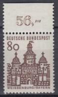 BRD 461, Mit Oberrand, Postfrisch **, Deutsche Bauwerke 1964 - Nuovi