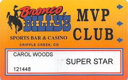 Bronco Billy's Casino Cripple Creek, CO - 4th Issue Super Star Slot Card - See Description & Scans! - Casino Cards