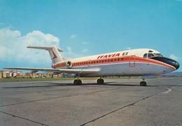 AEROPORTO-AEROPORT-AIRPORT-FLUGHAFEN-CIAMPINO OVEST-ROMA-ITALY-FOKKER F 28 JET-ITAVIA- VERA FOTOGRAFIA NON VIAGGIATA - Aérodromes