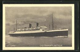 AK Passagierschiff SS Cuba In Fahrt - Dampfer