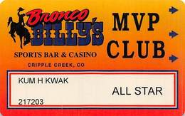 Bronco Billy's Casino Cripple Creek, CO - 5th Issue All Star Slot Card - See Description & Scans! - Casino Cards