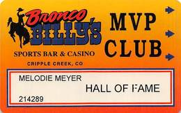 Bronco Billy's Casino Cripple Creek, CO - 5th Issue Hall Of Fame Slot Card - See Description & Scans! - Casino Cards