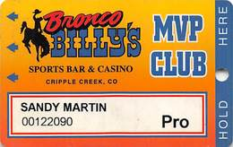 Bronco Billy's Casino Cripple Creek, CO - 8th Issue Pro Slot Card - See Description & Scans! - Casino Cards