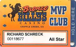 Bronco Billy's Casino Cripple Creek, CO - 9th Issue All Star Slot Card - See Description & Scans! - Casino Cards