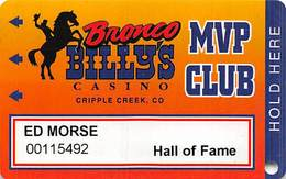 Bronco Billy's Casino Cripple Creek, CO - 10th Issue Hall Of Fame Slot Card - See Description & Scans! - Casino Cards
