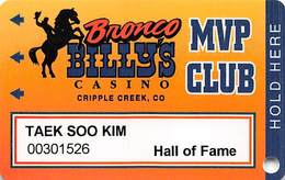 Bronco Billy's Casino Cripple Creek, CO - 11th Issue Hall Of Fame Slot Card - See Description & Scans! - Casino Cards