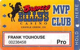 Bronco Billy's Casino Cripple Creek, CO - 12th Issue Pro Slot Card - See Description & Scans! - Casino Cards