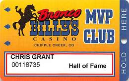 Bronco Billy's Casino Cripple Creek, CO - 12th Issue Hall Of Fame Slot Card - See Description & Scans! - Casino Cards