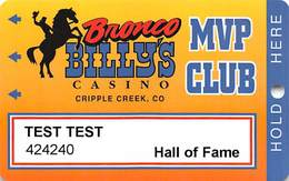 Bronco Billy's Casino Cripple Creek, CO - 14th Issue Hall Of Fame Slot Card - See Description & Scans! - Casino Cards