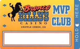 Bronco Billy's Casino Cripple Creek, CO - BLANK 16th Issue Slot Card - See Description & Scans! - Casino Cards