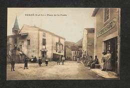 71 - VERZÉ - Place De La Poste - (Épicerie Noirard) - Rare ,#71/020 - France