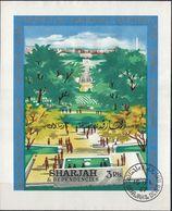 SHARJAH - 1967 - Foglietto Usato Emesso In Occasione Dell'inaugurazione Del Memoriale A John Fitzgerald Kennedy. - Sharjah