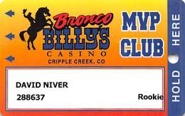 Bronco Billy's Casino Cripple Creek, CO - 19th Issue Rookie Slot Card - See Description & Scans! - Casino Cards