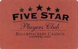 Bullwhackers Casino Central City, CO BLANK Bronze Slot Card - Black Reverse - Casino Cards
