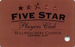 Bullwhackers Casino Central City, CO BLANK Bronze Slot Card - Blue Reverse - Casino Cards