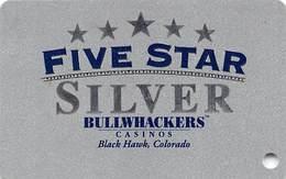"Bullwhackers Casino Black Hawk, CO BLANK Silver Slot Card - Large ""Silver"" - Casino Cards"