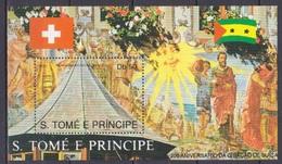 1990Sao Tome And Principe1208/B244Red Cross / 700th Anniversary Swiss Confederation - Rotes Kreuz
