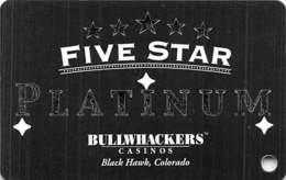 Bullwhackers Casino Black Hawk, CO BLANK PLATINUM Slot Card - Casino Cards