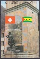 1990Sao Tome And Principe1209/B245Red Cross / 700th Anniversary Swiss Confederation - Rotes Kreuz