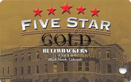 Bullwhackers Casino Black Hawk, CO BLANK Slot Card - Casino Cards