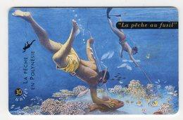 POLYNESIE FRANCAISE PF76a PECHE AU FUSIL 30U - Französisch-Polynesien
