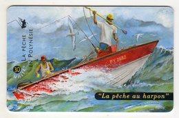 POLYNESIE FRANCAISE PF83 LA PECHE AU HARPON 30U - Französisch-Polynesien