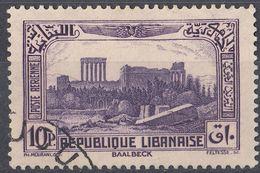 LIBANO - 1937 - Yvert Posta Aerea 70, Usato, Come Da Immagine. - Libano