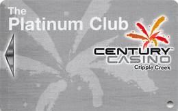 Century Casino - Cripple Creek, CO - BLANK Slot Card - Casino Cards