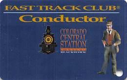 Colo. Central Station Casino Black Hawk, CO - BLANK Slot Card - Bold Blackhawk - Casino Cards