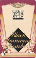 Colo. Central Station Casino Black Hawk, CO - BLANK Slot Card - Yellow Background - Casino Cards