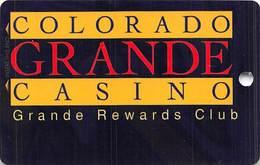 Colorado Grande Casino Cripple Creek, CO BLANK Slot Card - 2 Phone#s - Casino Cards