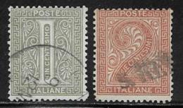 Italy Scott # 24-5 Used Numerals, 1863-5 - 1861-78 Victor Emmanuel II.