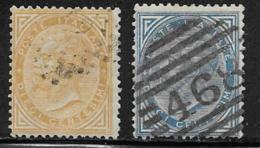 Italy Scott # 27-8 Used Victor Emmanuel Ll, 1863,1877 - 1861-78 Victor Emmanuel II.