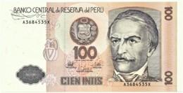 Peru - 100 Intis - 26.06.1987 - Unc. - Pick 133 -  Serie A - Ramon Castilla - Perú