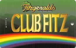 Fitzgerald's Casino Black Hawk, CO - BLANK Slot Card - Fitzbh.com Web Address - Casino Cards