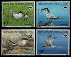 Benin 1989 - Mi-Nr. 476-479 ** - MNH - Vögel / Birds - Benin – Dahomey (1960-...)